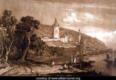 LIBER STUDIORUM. PART 12 ( 01 / 01 / 1816 ). PLATE 59. VILLE DE THUN, SWITZERLAND. Etcher : J.M.W. Turner. Engraver : Thomas Hodgetts.