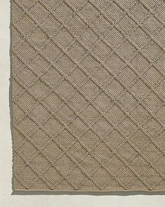 Screened Porch ---- Braided Diamante Outdoor Rug - Sand