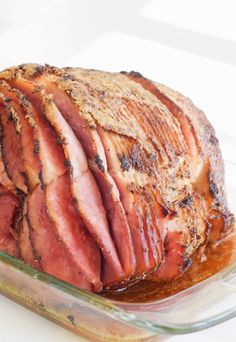 A no fuss way to dress up a pre-cooked ham to make them even more festive