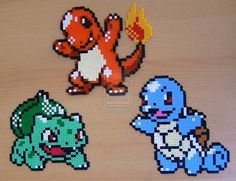 Cute Perler Bead Patterns | Pokemon sprite bead 4 by Chiki012