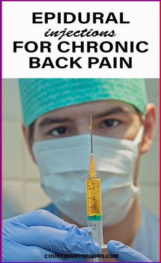 What are epidural injections and how are they used for chronic back pain. My experience with an epidural for chronic back, shoulder, & neck pain - did it work? Endometriosis, Fibromyalgia, Cervical Disc, Referred Pain, Radiculopathy, Back Pain Remedies, Spinal Stenosis, Neck Pain Relief, Crps