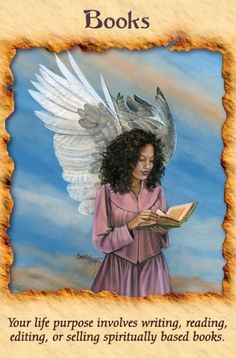 """Daily Angel Oracle Card: Books, from the Angel Therapy Oracle Card deck, by Doreen Virtue, Ph.D Books: """"Your life purpose involves writing, reading editing or selling spiritually based books. Angel Guide, Animal Spirit Guides, Oracle Tarot, Doreen Virtue, Angels Among Us, Angel Cards, Card Reading, Tarot Cards, Divination Cards"""