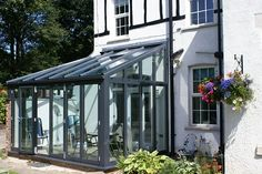 Lean-To Conservatories - Conservatory - Radcliffe Glass & Windows Conservatory Interiors, Lean To Conservatory, Conservatory Extension, Porch Greenhouse, Glass Conservatory, Gazebo, Outside Living, Outdoor Living, Wooden Greenhouses