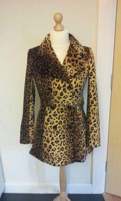 Be Beau Faux Leopard Skin Coat  Size 8  Ladies Women s.