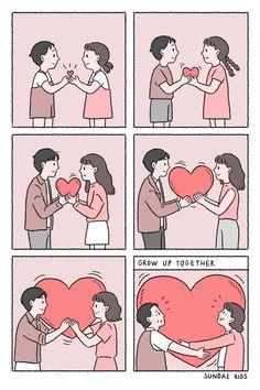 Cute Couple Comics, Couples Comics, Cute Couple Cartoon, Cute Couple Art, Cute Comics, Cute Cartoon, Anime Couples, Cute Couples, Illustration Mignonne