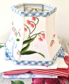 Coral Bell Lamp Shades Lampshade vintage by lampshadelady on Etsy