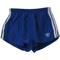 80s Retro Shorts: 80s -Adidas Made in USA- Mens blue and white side... (230 NOK) ❤ liked on Polyvore featuring men's fashion, men's clothing, men's shorts, shorts, bottoms, blue, mens elastic waist shorts, mens mini shorts, 80s mens shorts and mens short shorts