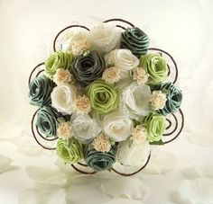 Gorgeous silk flower bouquet