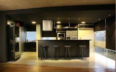 Apartamento masculino, preto e sofisticado