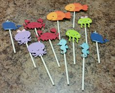 Check out this item in my Etsy shop https://www.etsy.com/listing/224461448/12-under-the-sea-cupcake-toppers