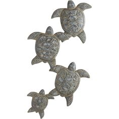 Pier 1 Imports Green Turtle Parade Wall Decor ($51) ❤ liked on Polyvore featuring home, home decor, wall art, green, cast iron home decor, turtle home decor, ocean home decor, pier 1 imports and green home decor