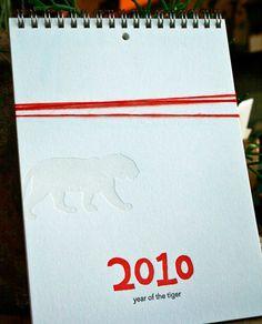 2010 letterpress calendar by Lark Press