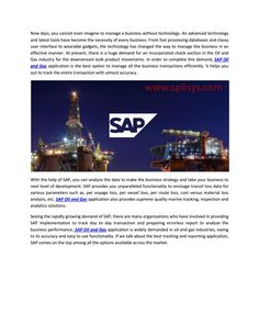Sap oil and gas by splisys