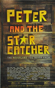 PETER AND THE STARCATCHER BROADWAY WINDOW CARD - CHRISTIAN BORLE