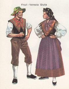 Friuli Venezia Giulia-Trieste Region, Italy Trieste, Folk Costume, Costumes, Traditional Dresses, Venice, Nostalgia, Italy, Clothes For Women, Nifty