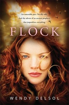 "Flock (Stork #3) by Wendy DelsolKatla's hopes of dodging unfinished business during her senior year are dashed by the arrival of two ""Icelandic exchange students,"" Marik and Jinky, who have come to collect Katla's frail baby sister and take her to the water queen."