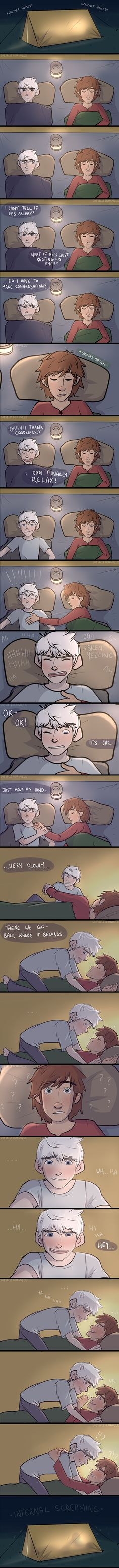 by she-sells-seagulls.deviantart.com | Hiccup Haddock x Jack Frost | Frostcup | Hijack | How To Train Your Dragon | Rise of the Guardians