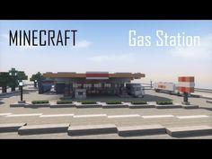 Minecraft Modern Gas Station (full interior) + Download - YouTube Minecraft Building Designs, Minecraft Modern City, Minecraft City Buildings, Minecraft Banners, All Minecraft, Minecraft Plans, Minecraft Videos, Minecraft Construction, Minecraft Tutorial