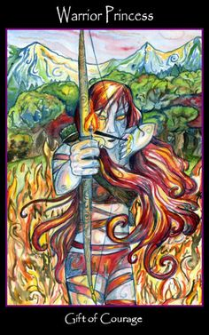 Tarot of the Sidhe ► Warrior Princess (Gift of Courage)