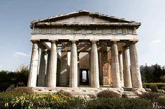 Admiring the glorious Temple of Hephaestus in Athens ' Ancient Agora! #loveGreece #travel #greekhistory #visitGreece   Greece