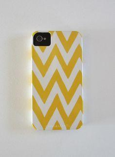 chevron + yellow iPhone 4 case
