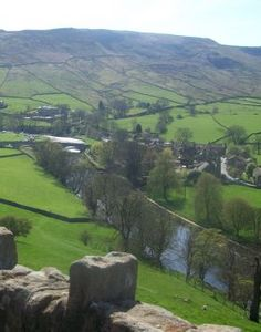 The beautiful village of Appletreewick, North Yorkshire, England