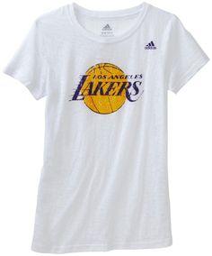 8a55dda2819 NBA Girls Los Angeles Lakers Short Sleeve Crew
