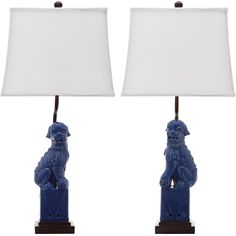 With a nod to the Far East, these stately Foo Dog table lamps add a worldly touch to any room.
