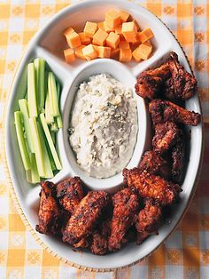 These fiery wings are seasoned with three types of hot sauce. Recipe: http://www.bhg.com/recipe/chicken/kennys-wings-of-fire/?socsrc=bhgpin060612