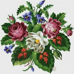 This Pin was discovered by Neş Simple Cross Stitch, Cross Stitch Rose, Cross Stitch Flowers, Embroidery Art, Cross Stitch Embroidery, Embroidery Patterns, Cross Stitch Designs, Cross Stitch Patterns, Cross Stitch Pillow