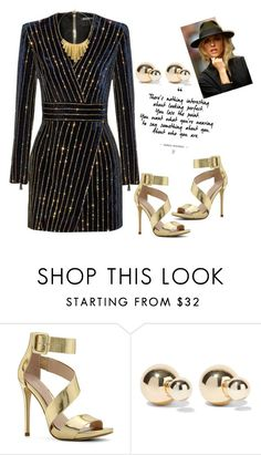 """""""Long Sleeved Dress"""" by tholliscole ❤ liked on Polyvore featuring Balmain, ALDO, Kenneth Jay Lane and BERRICLE"""