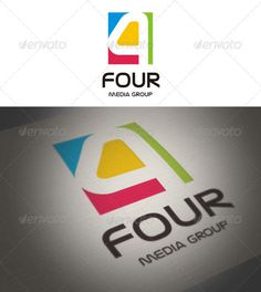 Four Media Group  Logo Design Template Vector #logotype Download it here: http://graphicriver.net/item/four-media-group/1161670?s_rank=46?ref=nesto