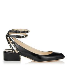 JIMMY CHOO Daniela 30 Black Shiny Spazzalatto Round Toe Pumps. #jimmychoo #shoes #s