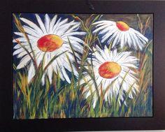 """""""Soleil d'hiver"""" - Acrylique sur toile -  Dimensions 30"""" x 48"""" - Disponible"""