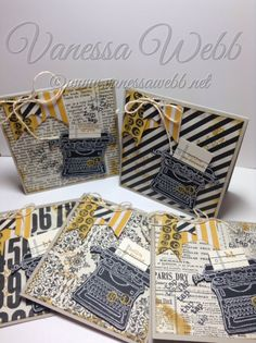 Tap Tap Tap cards - great gift idea! By Vanessa Webb Independent Stampin' Up! Demonstrator www.vanessawebb.stampinup.net