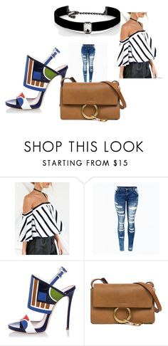 A fashion look from August 2017 featuring striped off the shoulder top, super skinny jeans and multi colored sandals. Browse and shop related looks. Dsquared2, Jay, Shoe Bag, Polyvore, Stuff To Buy, Shopping, Shoes, Collection, Design