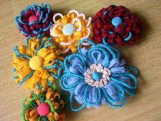 Flores en fieltro y lana