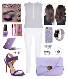 """""""College Girl"""" by silviagcr ❤ liked on Polyvore featuring rag & bone, River Island, Schutz, Speck, OPI, Casetify, Belk & Co. and BERRICLE"""