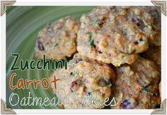 Zucchini Gulerod Havregryn Craisin Cookies |  MomOnTimeout.com Disse fantastiske zucchini cookies er pakket fuld af zucchini, gulerødder, havregryn, Craisins, og kokos!  Alle de gode ting!