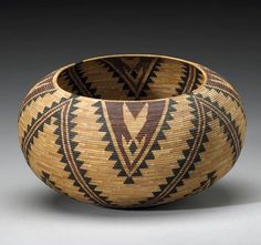 Mono Lake Paiute Polychrome Basket by Carrie Bethel | ca. prior to 1927.