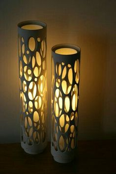 via Ashbee Design: PVC Inspiration! can light in random or patterned core holed PVC pipe. Eco Deco, Deco Luminaire, Pvc Pipe Projects, Deco Originale, Can Lights, Handmade Home Decor, Lighting Design, Modern Lighting, Pipe Lighting