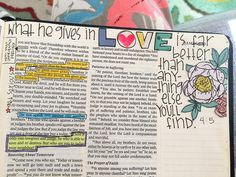 Bible journaling - What He gives in love