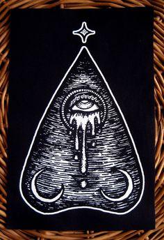 The Oracle Planchette. Hand drawn by PoisonApplePrintshop, tattoo inspiration