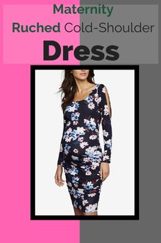 833b60c9eb02f A Pea in the Pod Maternity Ruched Cold-Shoulder Dress Earliest Pregnancy  Symptoms