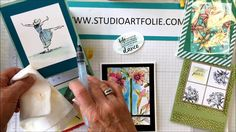 Effet aquarelle à la Stampin' Up! Vidéo 2 de 2 Stampin Up, Dance, Videos, How To Make, Tips And Tricks, Watercolor Painting, Projects, Dancing, Stamping Up