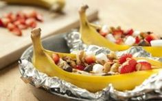 Sobremesa de Banana Grelhada e Recheada