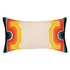 Arcata Embroidered Lumbar Pillow
