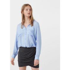 MANGO Draped Wrap Skirt ($20) ❤ liked on Polyvore featuring skirts, mango skirts, elastic waist skirt, draped wrap skirt, draped skirts and linen skirt