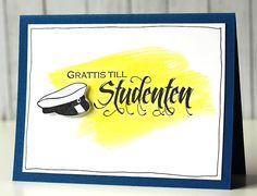 Gummiapan : Studentkort och lite annat Cardmaking, Graduation, Presents, Baby Shower, Scrapbooking, Cards, Camilla, 3d, Gift