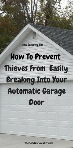 These modern garage doors that almost everyone has these days are very easy to break into. In this demo youll see just how easy it is for even a novice to break into one of these things. Fortunately the fix for this is pretty easy. Cheap Garage Doors, Garage Door Windows, Modern Garage Doors, Garage Shed, Garage House, Overhead Garage Storage, Diy Garage Storage, Storage Ideas, Garage Organisation